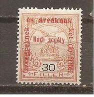 Hungría-Hungary Nº Yvert  152 (MH/*) - Hungría