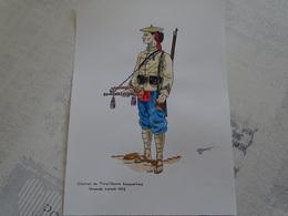 Planche Aquarellée. Clairon De Tirailleurs Annamites 1912 - Uniformes