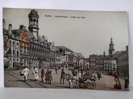 Mons. Grand' Place. Hôtel De Ville. Animée. Attelage - Mons