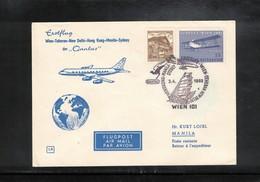 Austria / Oesterreich 1965 Qantas First Flight  Wien - Manila - AUA-Erstflüge