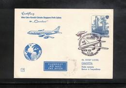 Austria / Oesterreich 1965 Qantas First Flight  Wien - Calcutta - AUA-Erstflüge