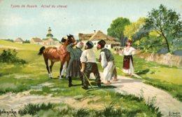 RUSSIA - Types De Russie - Ashal Du Cheval - Signed Artcard - Russia