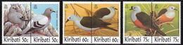 1997 Kiribati Doves And Pigeons Set (** / MNH / UMM) - Piccioni & Colombe