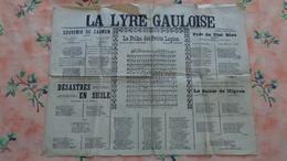 La Lyre Gauloise , 2 Pages Recto-verso De Chansons Anciennes - Music