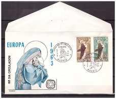 Spain 1963 FDC Europa CEPT - FDC