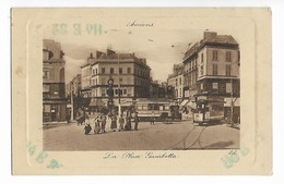 80 AMIENS La Place Gambetta Carte Gaufrée Edt L.L. 1915 .....G - Amiens