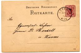 Carte Postale De Kettwig (31.12.1882) Pour Worms - Germany