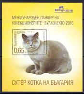 2016 Bulgaria Cats Chats Souvenir Sheet MNH  **LIMITED DISTRIBUTION *** - Chats Domestiques