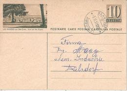 """PK 182  """"Les Rasses Sur Ste-Croix, Vue Sur Les Alpes""""         1957 - Ganzsachen"""