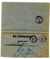 Lettre De Marienwerder (13.09.1883) Pour Stuhm - Allemagne