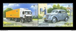 Ukraine 2013 Mih. 1334/35 Europa-Cept. Postal Means. Cars And Trucks MNH ** - Ukraine