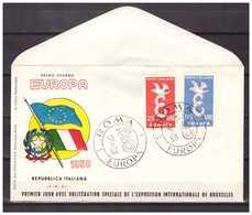 Italy 1958 FDC Europa CEPT - Otros