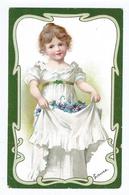 Fillette  Dans Cadre Art Nouveau    CPA Dos  Non Divisé     Ecrite 1903 - 1900-1949