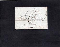 1793 - Lettre Pour ANNONAY - Griffe 37 GRENOBLE - 1701-1800: Precursori XVIII