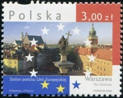 Poland 2009 Capitals Of European Union Warsaw - The Castle Square MNH** - Ongebruikt