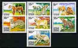 Guinea-Bissau 1984 Mi.No. 779 - 785 Big Cats Of Prey 7v MNH**  5,90 € - Guinée-Bissau