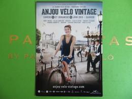CPM Femme à Vélo Rando Vélo Rétro Anjou Vélo Vintage 2013 - Radsport