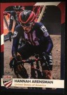 Card Hannah Arensman - USA Cycling - 2019/2020 (6.5 X 9 Cm) - Cyclisme