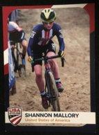 Card Shannon Mallory - USA Cycling - 2019/2020 (6.5 X 9 Cm) - Cyclisme