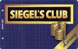 Siegel Slots & Suites Las Vegas, NV - Siegel's Club Luxury / Slot Card (Blank) - Casino Cards
