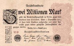 GERMANY-2 MILLIONEN MARK 1923  P-104a1  Circ XF++   UNIFACE - [ 3] 1918-1933 : República De Weimar