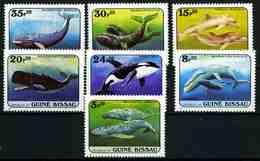 Guinea-Bissau 1984 Mi.No. 804 - 810 Whales 7v MNH** 10,00 € - Guinée-Bissau