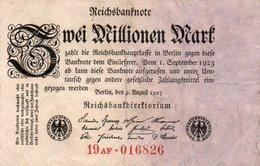 GERMANY-2 MILLIONEN MARK 1923  P-103c  Circ XF  UNIFACE - [ 3] 1918-1933 : República De Weimar
