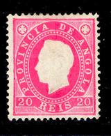 ! ! Angola - 1886 D. Luis 20 R - Af. 17 - MH - Angola