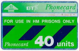 UK - UNITED KINGDOM PRISONS BT LANDIS & GYR L&G 40 UNITS MAGNETIC TELECARTE PHONECARD PERFECT - Ver. Königreich