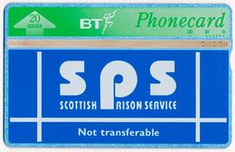 UK - UNITED KINGDOM SPS SCOTTISH PRISON SERVICE BT LANDIS & GYR L&G 20 UNITS MAGNETIC TELECARTE PHONECARD PERFECT - Ver. Königreich