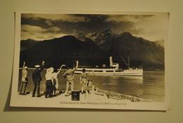 Nouvelle Zelande Earnslaw On Lake Wakatipu Carte Photo Circulee Par Avion Air Mail - New Zealand