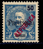 ! ! Congo - 1914 D. Carlos Local Republica 50 R - Af. 121 - MLH - Congo Portugais