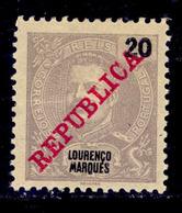 ! ! Lourenco Marques - 1911 D. Carlos 20 R - Af. 82 - MH - Lourenco Marques