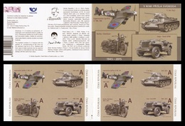Czech Republic 2015 Mih. 831/34 They Brought Freedom. Military Vehicles. Aircraft. Tank. Motorcycle (booklet) MNH ** - Nuevos