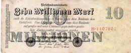 GERMANY-10 MILLIONEN MARK 1923  P-96  CIRC  UNIFACE - [ 3] 1918-1933: Weimarrepubliek