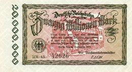 GERMANY-20 MILLIONEN MARK 1923  P-S1015.3  UNC  UNIFACE  SERIE HR-45  42626 - [ 3] 1918-1933 : República De Weimar