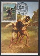 HUNGARY - 1983.Maximum Card - Wrestling European Championships,Budapest/Wrestiers By Courbet Mi:2512 - Maximumkaarten