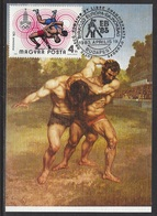 HUNGARY - 1983.Maximum Card - Wrestling European Championships,Budapest/Wrestiers By Courbet Mi:3438. - Cartes-maximum (CM)