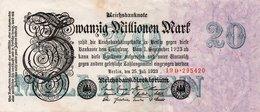 GERMANY-20 MILLIONEN MARK 1923  P-97.2  XF+AUNC  UNIFACE  SERIE - [ 3] 1918-1933 : República De Weimar