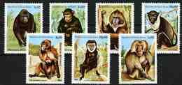 Guinea-Bissau 1983 MiNr. 658 - 664 Monkey 7v MNH ** 6,50 € - Guinée-Bissau