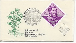 HUNGARY - 1963. FDC - Jozsef Eötvös, Author, Philosopher,educator Mi:1965. - FDC