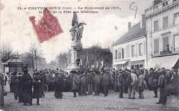 36 - Indre - Chateauroux -   Le Monument De 1870 Le Jour De La Fete Des Veterans - Chateauroux