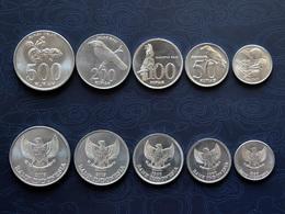 Indonesien Indonesia 25+50+100+200+500 Rupiah SET 5 Coins Münzen Asien - Indonesia