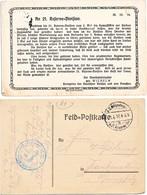 MEUSE CP 1917 ENTIER CPFM CITATION LETTRE PRINCE WILHELM A L ORDRE DU REGIMENT ALLEMAND POUR FAITS D ARME A VERDUN RARE - Marcophilie (Lettres)