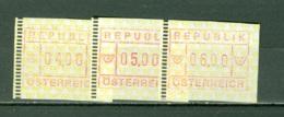 Autriche    Distributeur Serie 2 De 3 Valeurs    * *   TB   Cote 6 Euro - 1945-.... 2nd Republic