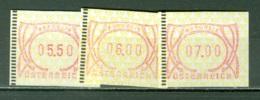 Autriche    Distributeur Serie 3 De 3 Valeurs    * *   TB - 1945-.... 2. Republik