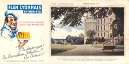 BUVARD FLAN LYONNAIS ENTREMETS  CHATEAU DE BRISSAC - Carte Assorbenti