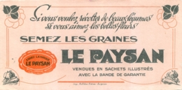 BUVARD JARDINAGE GRAINES LE PAYSAN  LEGUMES - Löschblätter, Heftumschläge