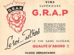 BUVARD VINS SUPERIEURS G.R.A.P. - Papel Secante