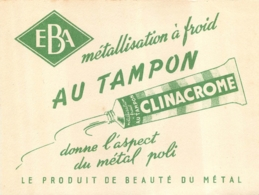 BUVARD EBA CLINACROME METALLISATION A FROID AU TAMPON - Carte Assorbenti